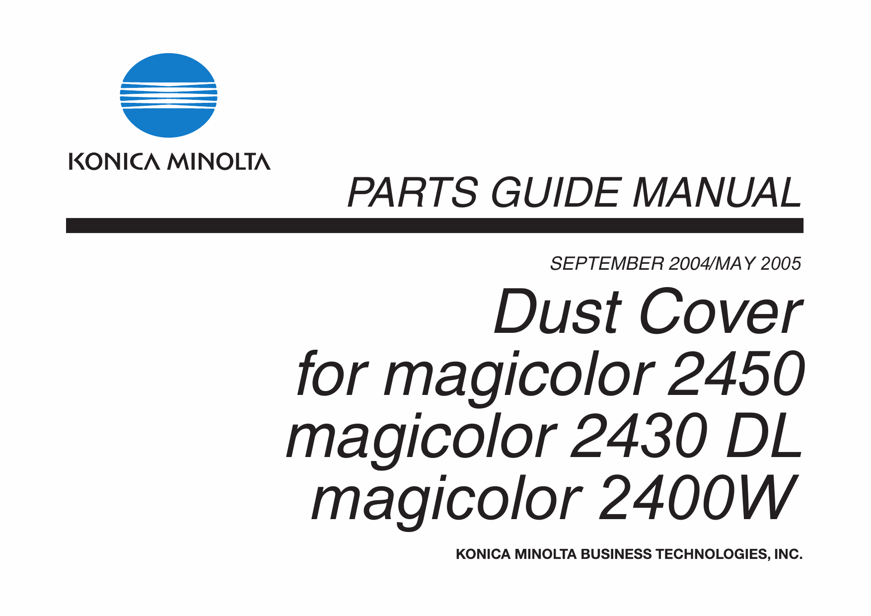 Konica-Minolta magicolor 2400W 2430DL 2450 Dust-Cover
